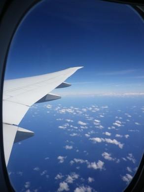 Plane window photo over Australia
