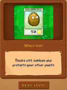 Plants vs Zombies gameplay walnut