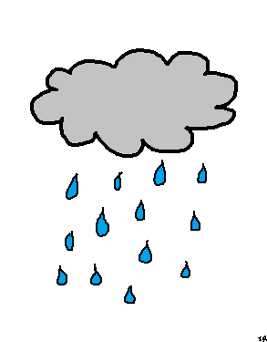 Rainy Cloud And Word Weather Pictures For Kids